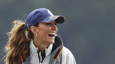 Kate, the Duchess of Cambridge, takes part in the King's Cup regatta.