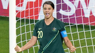 One of a kind: Sam Kerr's four-goal haul is unlikely to ever be bettered by an Australian at a World Cup.