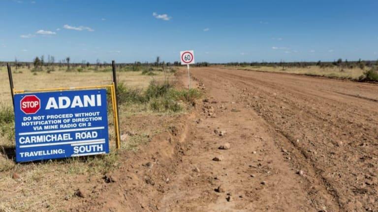 The road to Adani's proposed Carmichael coal mine west of Moranbah.