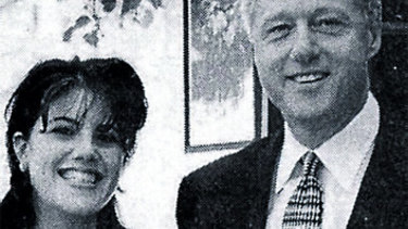 Monica Lewinsky with Bill Clinton.