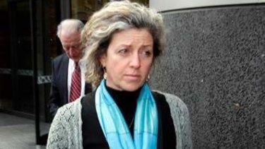 Phoebe Handsjuk's mother Natalie leaves the coroner's court.