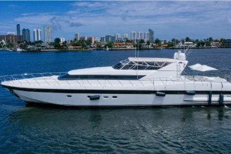 The XOXO Mangusta is being offered for sale by yachting agents in the US.