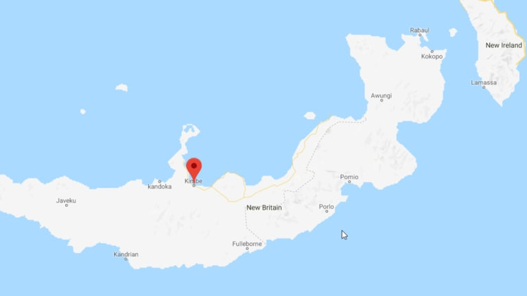 An earthquake hit off Kimbe, Papua New Guinea, on Thursday.