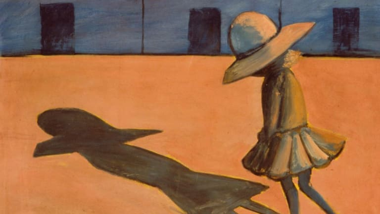 A piece from Charles Blackman's Schoolgirls series.