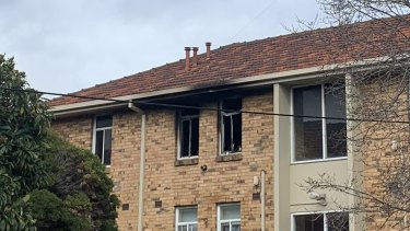 The fire broke out in an apartment on the third floor.