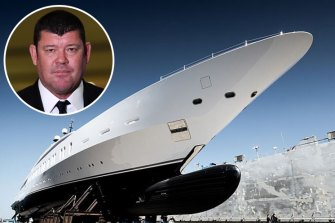 James Packer and his superyacht.