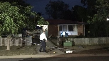 Police declared the Gracemere home a crime scene after both men were found injured.