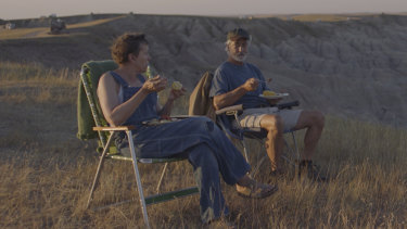 Unorthodox release: Frances McDormand and David Strathairn in Nomadland.
