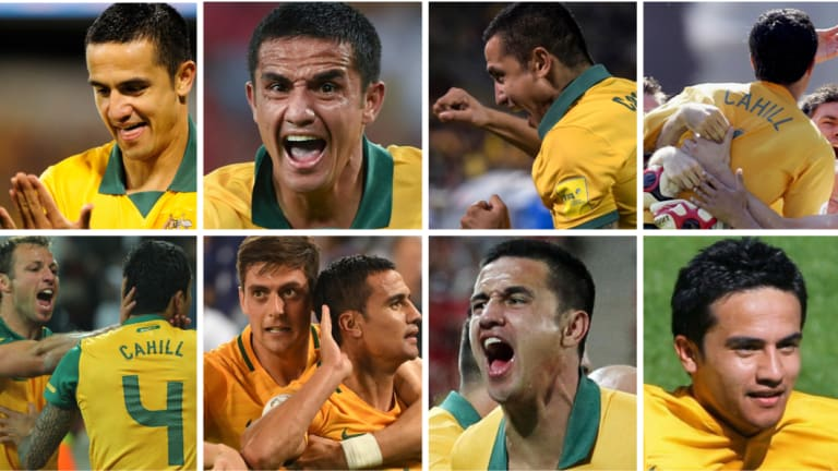 Thanks for the memories: Tim Cahill was a perennial goal-scorer for Australia since his debut in 2004.
