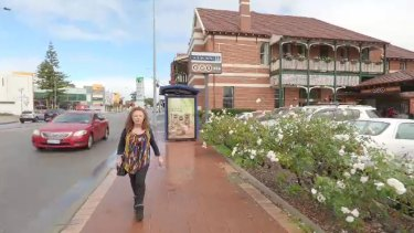 Katrina Jones outside the Albion Hotel.