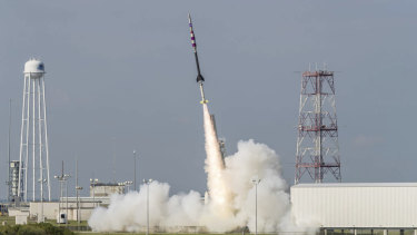 A sounding rocket similar to what will be launched by NASA from ELA's spaceport in Arnhem Land.
