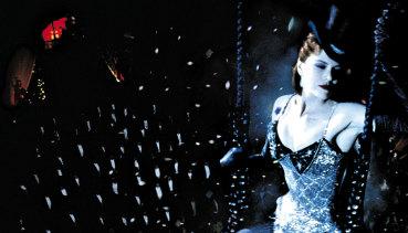 On set at Sydney's Fox Studios: Nicole Kidman in Moulin Rouge.