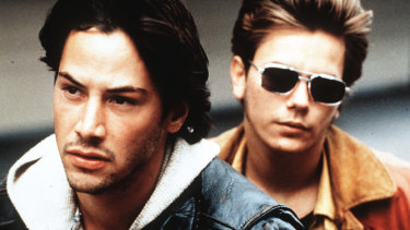 Keanu Reeves and River Phoenix in My Own Private Idaho.