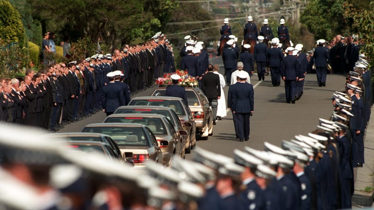 Rod Miller's funeral Honour Guard.