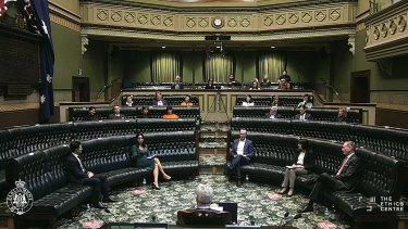 """The Bare Pit was hosted by the Ethics Centre in the so-called """"bear pit"""" of the NSW Legislative Assembly."""