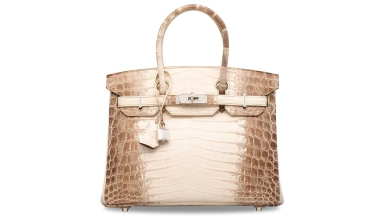 A rare Hermes Birkin bag has sold for over$280,000 at an auction in London.