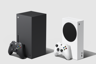 The Xbox Series S, right, plays the same games as the more expensive Xbox Series X.