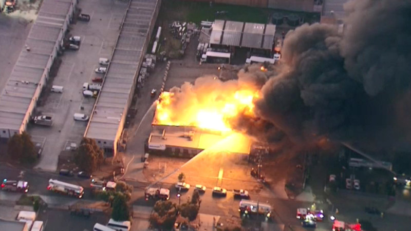 Campbellfield fire: Melbourne factory goes up in flames in city's north
