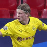 Haaland bags two as Dortmund come from behind in Champions League