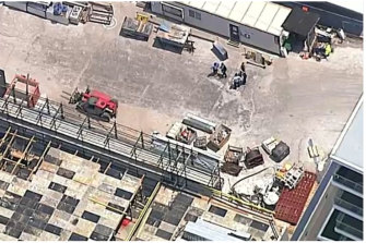 A man has been stabbed at a Sydney construction site in Mascot.