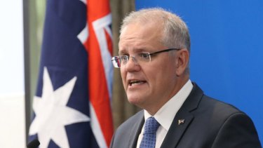 Prime Minister Scott Morrison announced the government's climate package at a function in Melbourne on Monday.