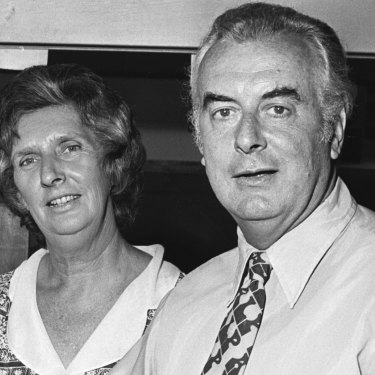 Margaret and Gough Whitlam in 1972.