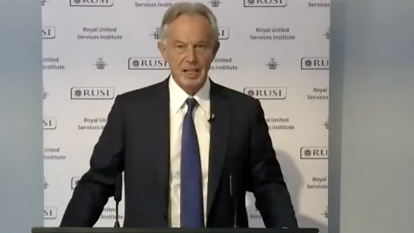 Counter-terrorism strategy will not be enough to counter the Taliban, Tony Blair says