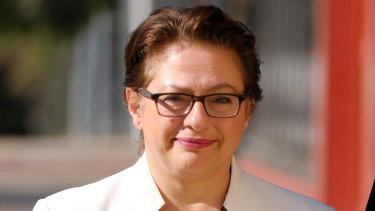 Sophie Mirabella outside court in Wangaratta on Friday.