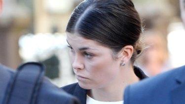Billie Rodda attends Bendigo Magistrates Court over the death of cyclist Jason Lowndes.