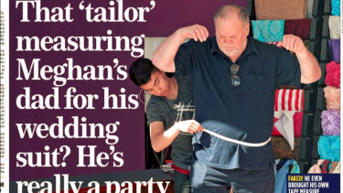 Thomas Markle said he apologised for setting up paparazzi pictures of him being fitted for a suit.