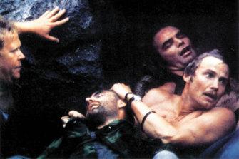 Deliverance, starring Jon Voight, Ned Beatty, Ronny Cox and Burt Reynolds.