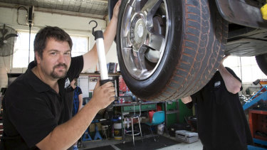 Michael Taylor of Taylored Mechanics, Bacchus Marsh says he has no choice but to shut up shop in a heat wave.