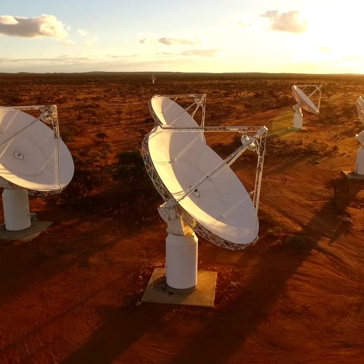 ASKAP, a pathfinder telescope for the Square Kilometre Array at the Murchison Radio astronomy Observatory – the site for the SKA1-Low telescope in Australia.