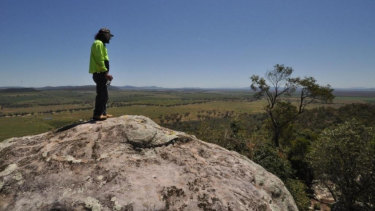 Gomeroi man Steve Talbott overlooks the land China Shenhua plans to turn into a mine.