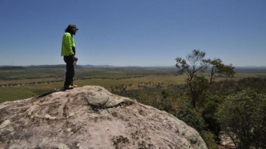 Gomeroi man Steve Talbott overlooks the land China Shenhua plans to turn into a mine.