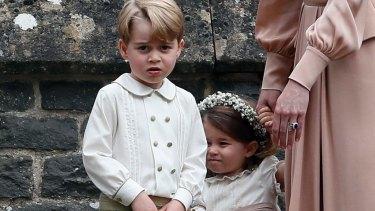 Prince George and Princess Charlotte will be page boy and bridesmaid at Saturday's royal wedding.