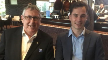 Newly elected President of Clubs NSW Northern Metropolitan Region, Toby Williams (right) with Graeme Liddell.