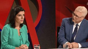 Tony Jones urges Julia Banks to name the Liberal Party's bullies.