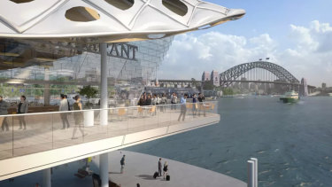 Concept designs for Circular Quay released in 2015 featured two-storey wharves.