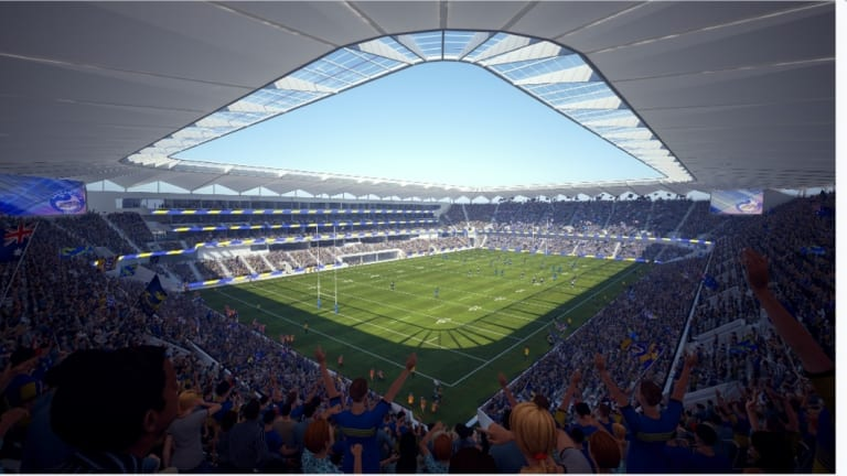 Close to the action: An artist's impression of the completed stadium.