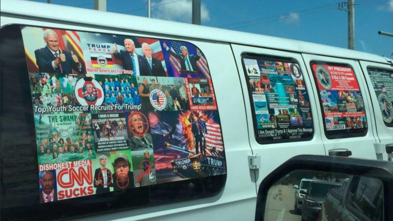 The van authorities believe Cesar Sayoc owned.
