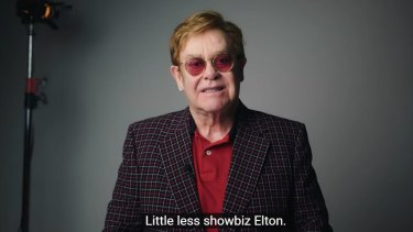 Elton John stars alongside Michael Caine in a new ad for the UK's National Health Service.