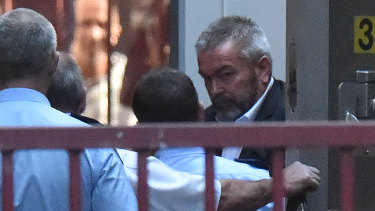 Borce Ristevski arrives at the Supreme Court on Thursday to be sentenced for manslaughter over his wife's death.