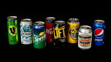 Eligible cans for recycling.