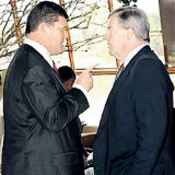 James Packer and David Leckie face off in 2009.