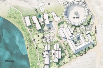 Map of the proposed redevelopment.