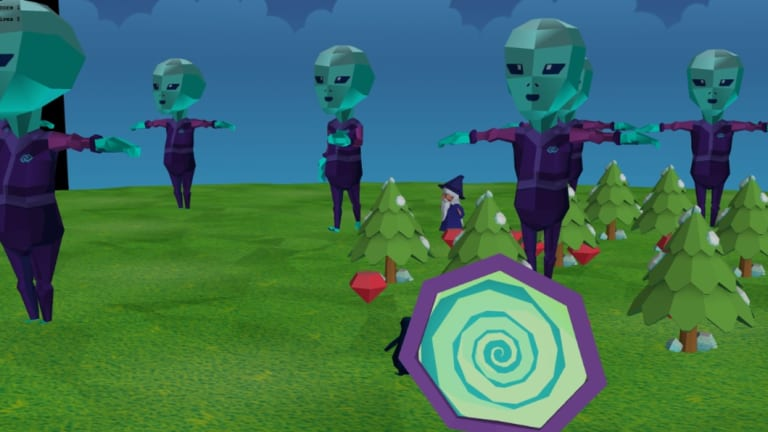 Year three student Rossi Barns created his own virtual game called 'Alien Invasion' at last holiday's camp.