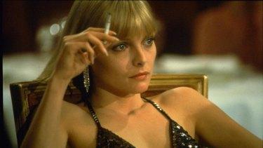 Breakthrough role: Michelle Pfeiffer in Brian de Palma's masterpiece Scarface.