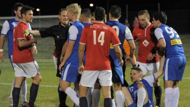 Canberra FC and Canberra Olympic are battling for the league title.