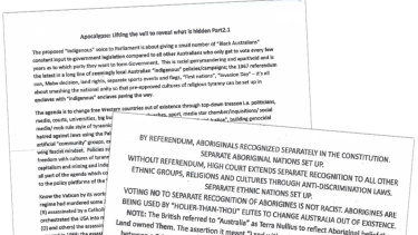 The letters have been sent to people across Australia from a Brisbane address.